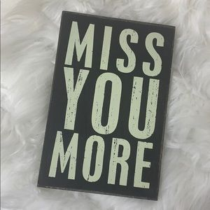 Other - Miss You More Wooden Postcard